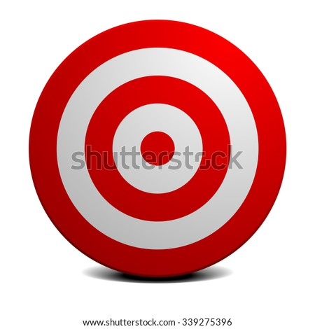 detailed illustration of an empty red and white target, eps10 vector - stock vector