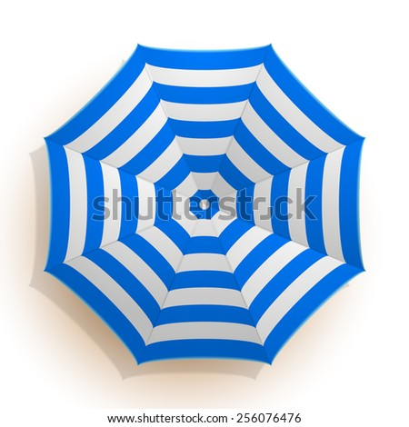 detailed illustration of an umbrella seen from above, eps10 vector - stock vector