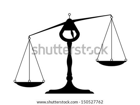 detailed illustration of an unbalanced balance - stock vector
