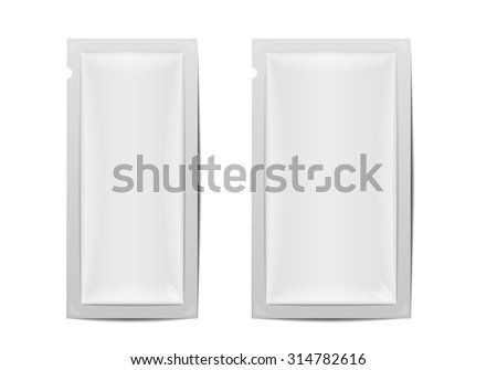 detailed illustration of two blank foil packaging templates, eps10 vector - stock vector