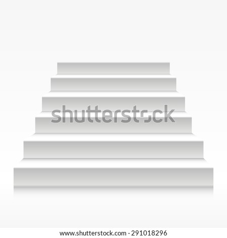detailed illustration of white stairs, eps10 vector - stock vector