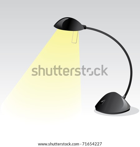 detailed lamp vector - stock vector