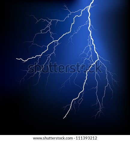Detailed lightning vector - stock vector