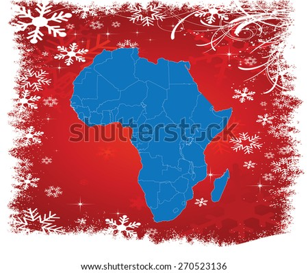 Detailed Map of Africa with Background - Vector Illustration - stock vector