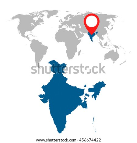 India map federal states flat vector stock vector 434765899 detailed map of india and world map navigation set flat vector illustration gumiabroncs Choice Image