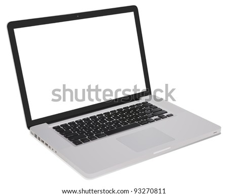detailed open notebook computer illustration