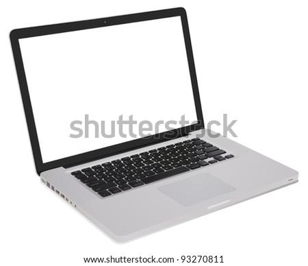 detailed open notebook computer illustration - stock vector