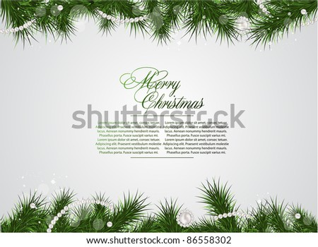 detailed realistic christmas  frame - stock vector
