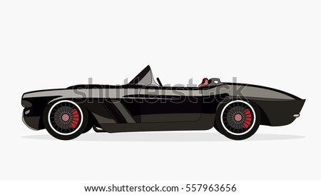 Vintage Muscle Car Vector Abstract Old Vectores En Stock 481590205 ...