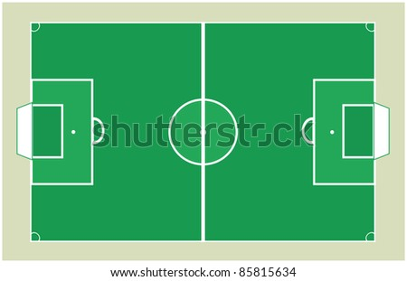 Detailed Soccer field background texture Vector - stock vector