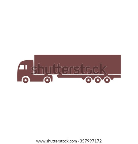 Detailed trucks silhouettes. Colorful vector icon. Simple retro color modern illustration pictogram. Collection concept symbol for infographic project and logo  - stock vector