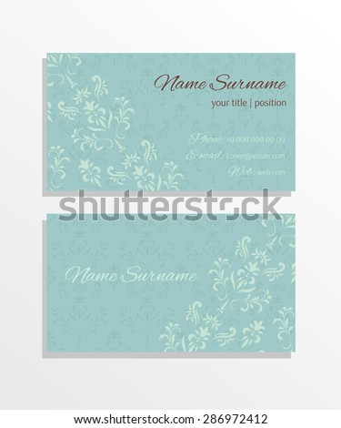 Detailed vector business card template - stock vector