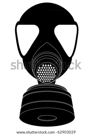 detailed vector illustration of a gas mask - stock vector