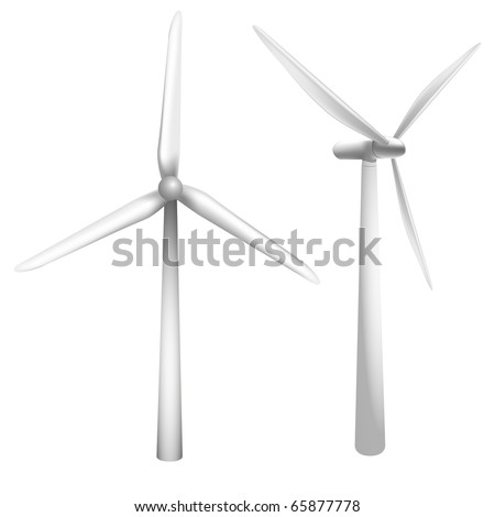 detailed vector illustration of a wind generator - stock vector