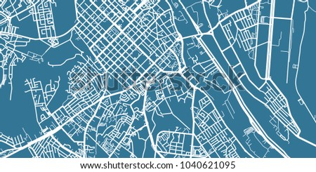 Detailed Vector Map Chisinau Scale 130 Stock Vector 1040621095