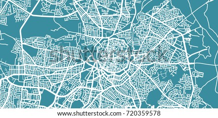 Detailed Vector Map Nicosia Scale Stock Vector - nicosia map