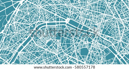 detailed vector map of paris scale 130 000 france