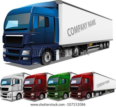 Detailed Vector Truck - stock vector