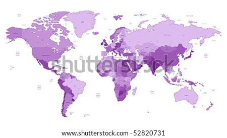 World Map With Names Stock Images RoyaltyFree Images Vectors - World map with names