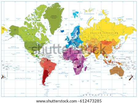 Detailed world map spot colored illustration vectores en stock detailed world map spot colored illustration vectores en stock 612473285 shutterstock gumiabroncs Gallery