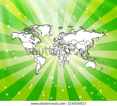 Detailed world map awesome background vector vectores en stock detailed world map with awesome background vector illustration gumiabroncs Gallery