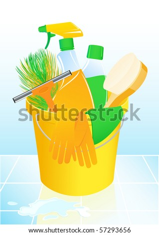 Detergents, vector illustration