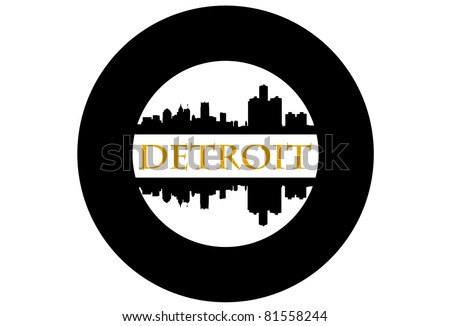 Detroit wheel - stock vector