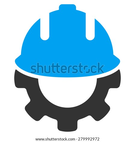 Development icon from Business Bicolor Set. This isolated flat symbol uses modern corporation light blue and gray colors. - stock vector