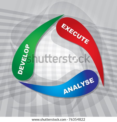 Development strategy, abstract color diagram - stock vector