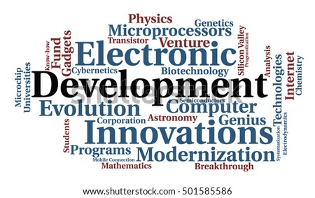 Development word cloud. Vector illustration.