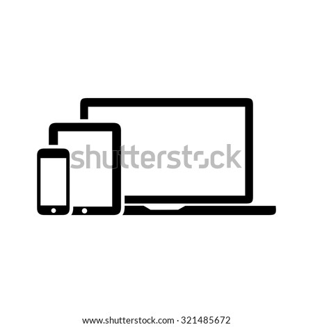 devices icon - stock vector