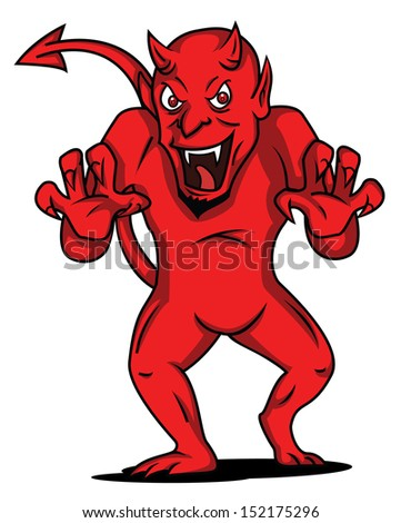 devil - stock vector