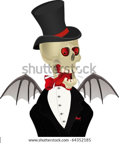 Devil in a suit - stock vector