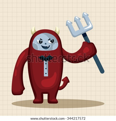 devil theme elements  - stock vector