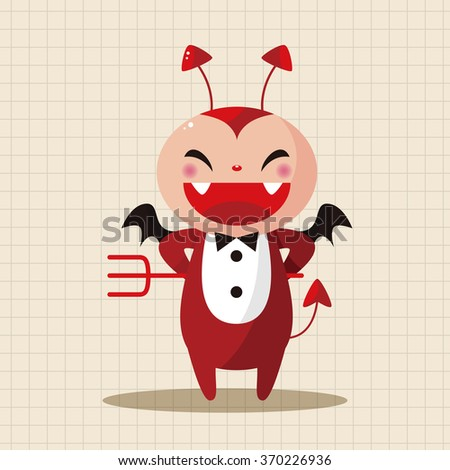devil theme elements  - stock vector