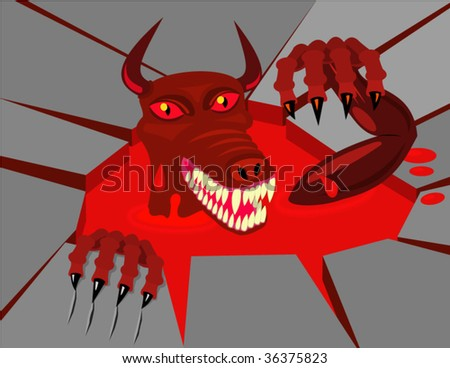 Devil. Vector Illustration.