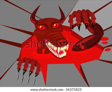 Devil. Vector Illustration. - stock vector