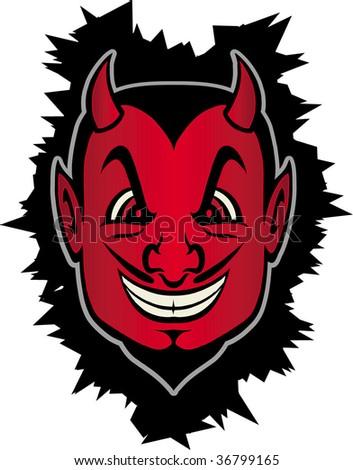 devilish smile - stock vector