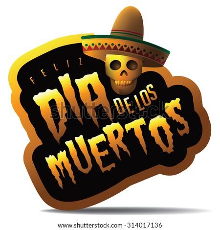 Dia de los Muertos - Mexican Day of the dead icon. EPS 10 vector.  - stock vector