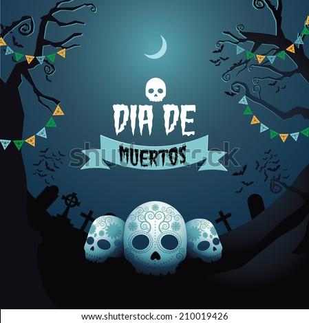 Dia de Muertos Day of the dead design EPS 10 vector - stock vector