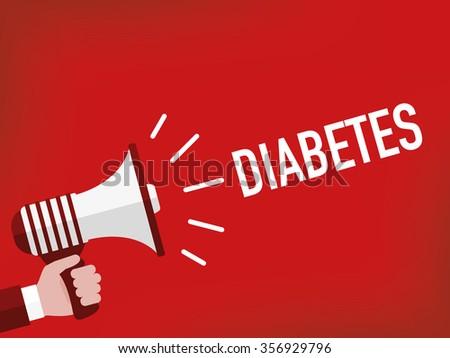 DIABETES - stock vector