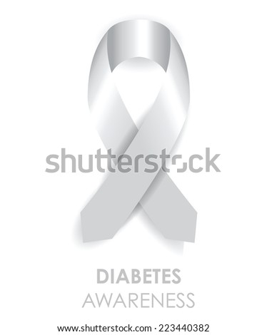 diabetes awareness ribbon - stock vector