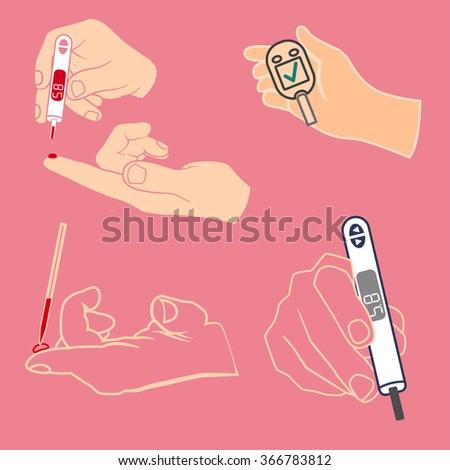 Diabetes Icon vector - stock vector
