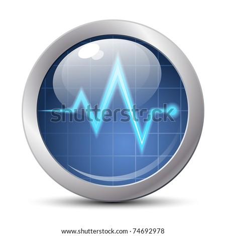 Diagnostics icon, vector illustration - stock vector