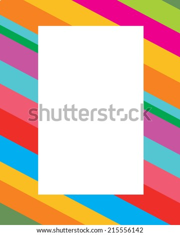Diagonal Candy Stripped Frame - Vector - stock vector