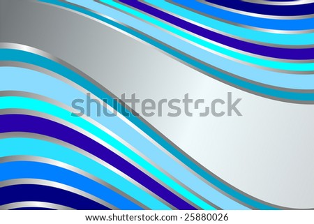 Diagonal gentle retro blue  stripes  background (vector) - stock vector