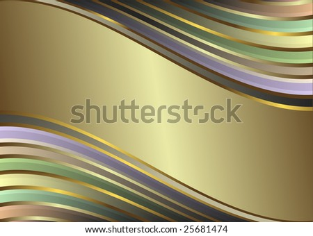 Diagonal gentle retro pastel  stripes  background (vector) - stock vector