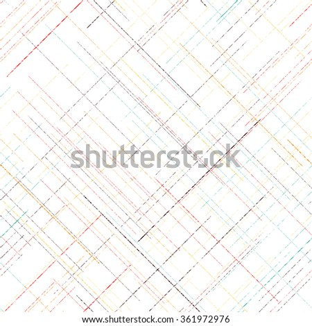 Diagonal grunge texture. Abstract seamless pattern. Pattern fills. Random lines. checkered template. Simple design for wallpaper, web page background, surface textures. - stock vector