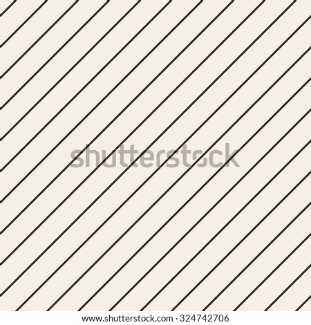Diagonal lines texture. Stripped geometric seamless pattern. Modern repeating stylish texture. Flat minimalistic texture on beige background. Vector - stock vector