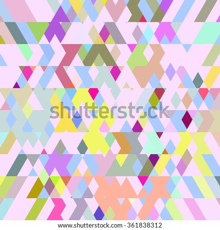 Diagonal polygonal background. Colorful diamond polygonal vector background.